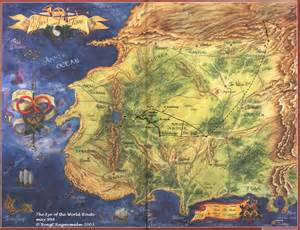 Eye Of The World Map the wheel of time routes