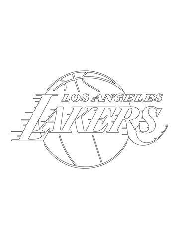 los angeles lakers logo coloring page  nba category
