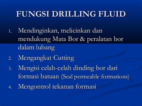 Mata Bor Sumur lumpur pengeboran drilling fluid
