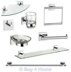 Bathroom Chrome Accessories Croydex Chester Flexi Fix Chrome Wall Mounted X Plate Bathroom Accessories Ebay