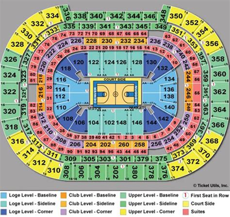 pepsi center seating chart concert denver nuggets seating chart rows pepsi center seating
