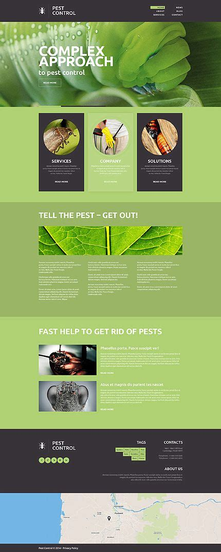 Template 49152 Pest Control Responsive Website Template On Pinterest Discover The Best Pest Website Templates Free