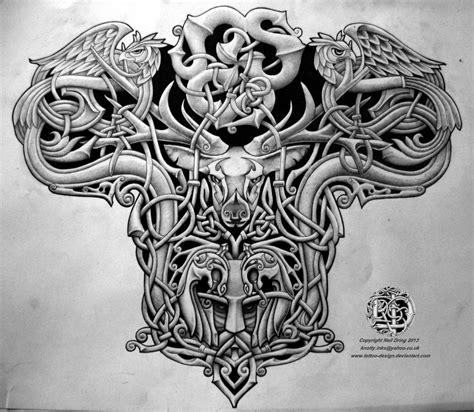 celtic warrior men tattoo design tattoo lawas