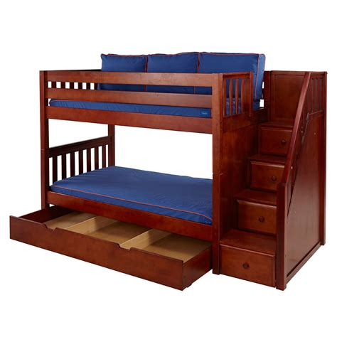Bunk Bed With Loft Bunk Beds Maxtrix Furniture Maxtrix