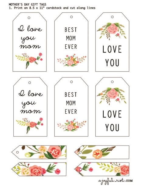 floral s day card printable s day gift tags free printable friday a joyful riot