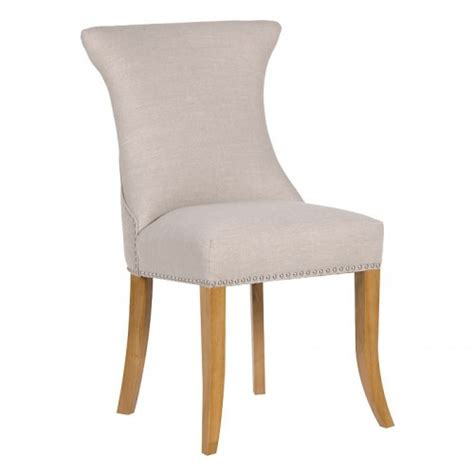 ivory studded dining chair with ring