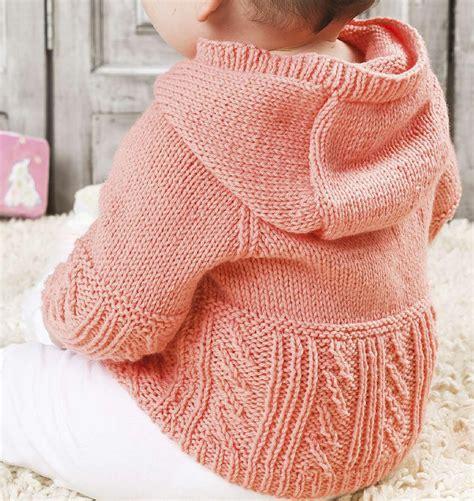 knitting pattern hooded jumper baby hooded jumper knitting pattern