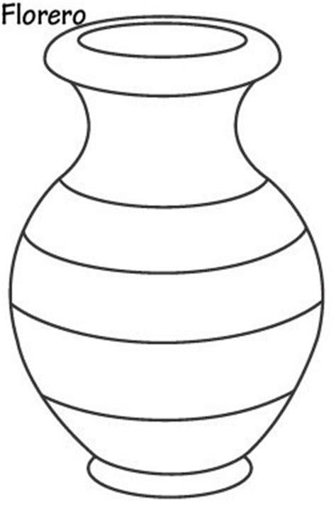 Vase Coloring Page by Vase With Flowers Coloring Pages Vase