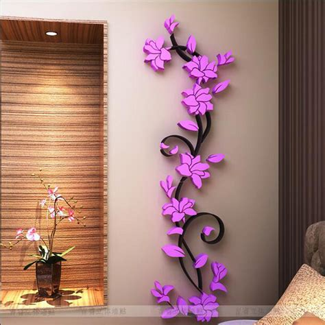home decoration sale free shipping flower hot sale wall stickers home decor 3d
