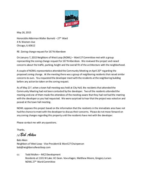 Request Letter For Zoning Certificate Neighbors Of West Loop Response To 167 N Aberdeen Zoning Change Req