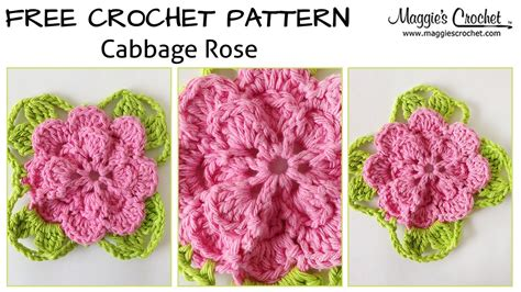 youtube a pattern of roses cabbage rose free crochet pattern right handed youtube