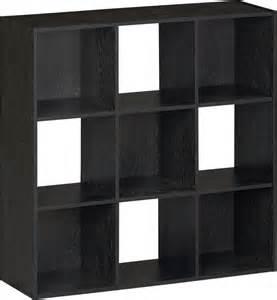 Walmart 5 Shelf Bookcase Black Black Storage Cubes