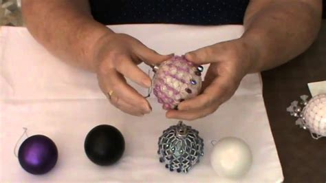 how to decorate christmas baubles bead decorated baubles