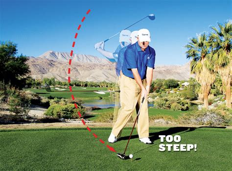 too steep golf swing drop 10 strokes in 10 minutes golf tips magazine