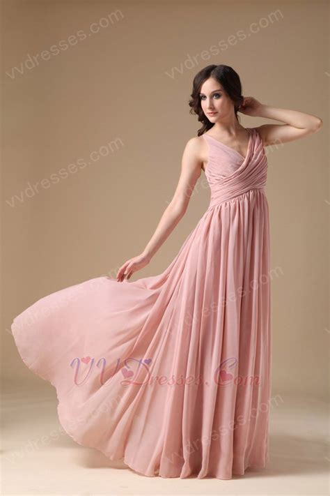 Dress Pearl Hotpink ruched v neck pearl pink 2014 a in prom dress
