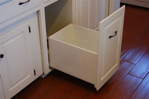 kitchen cabinet trash slide out trash can drawer to put in place of the removed
