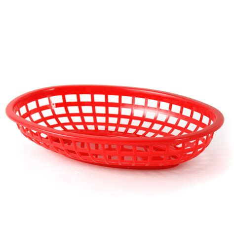 red plastic deli serving basket ebay