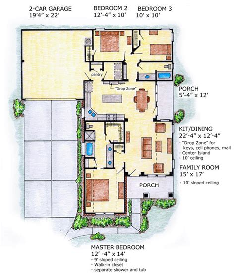 Retail Floor Plan House Plan 56503 At Familyhomeplans Com