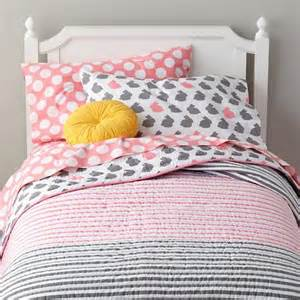 land of nod bedding grey pink bunny bedding the land of nod