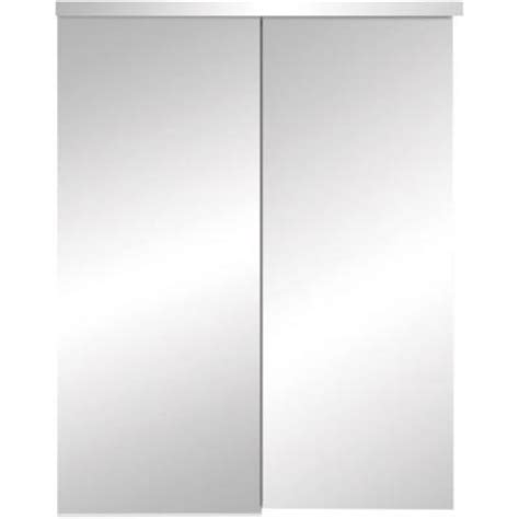 Truporte 48 In X 80 In 325 Series Steel White Frameless Frameless Mirror Closet Doors