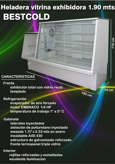 heladera exhibidora vitrina mostrador cm franequip