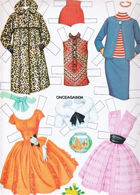 How To Make Doll Clothes With Paper - 1962 paper doll clothes ebay paper dolls