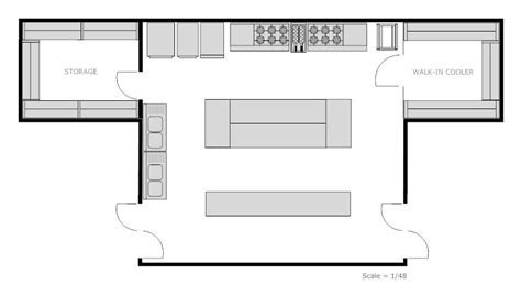 kitchen restaurant floor plan plans exles for free