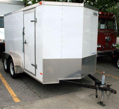 cargo box trailer 6 x 12 enclosed cargo utility trailer rental ic cr iowa