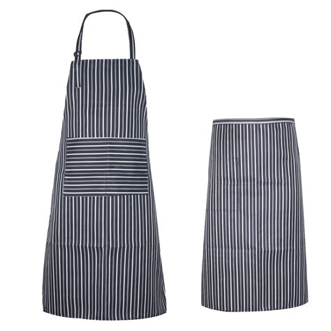 celemek waterproof waterproof oilproof stripe bib apron korean