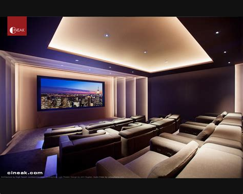 modern home theater exquisite new media room featuring cineak strato seats