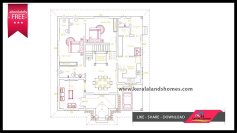 2100 sqft low budget free kerala home plans free