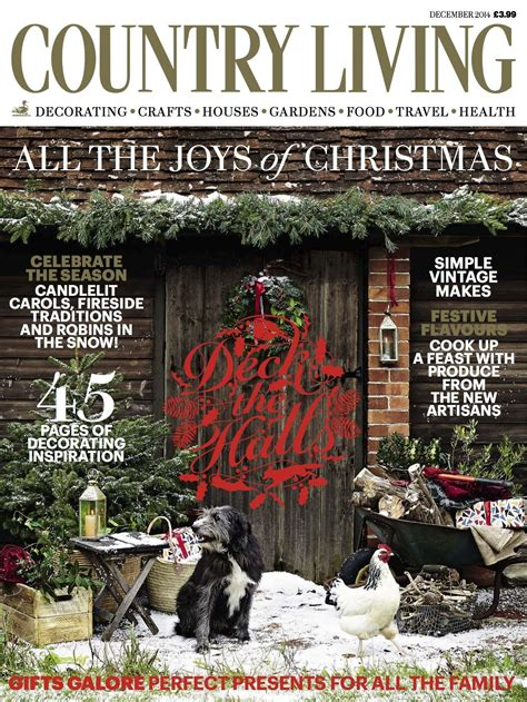 country living magazine december  cover luxury