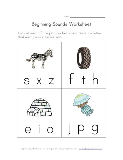 Beginning Kindergarten Worksheets by Beginning Sounds Phonics Worksheet Four Of Six