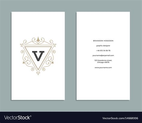ornament card template vintage ornament business card template royalty free