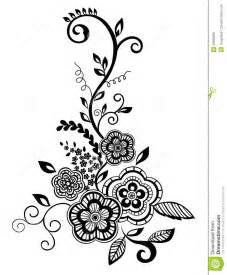 Beautiful Black And White Designs Beautiful Floral Element Black And White Flowers Royalty