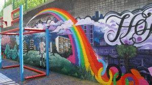 whitstanley estate ball  mural graffiti art workshops