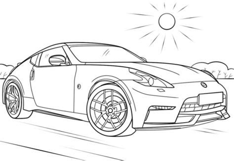 nissan cars coloring pages nissan coloring pages coloring nissan 370z coloring page free printable coloring pages