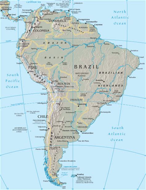 south america driving map south america maps world gazetteer