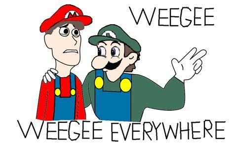 Weegee Meme - top mario is missing weegee wallpapers
