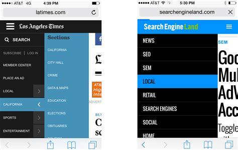 navigation layout exles 6 mobile friendly navigation best practices