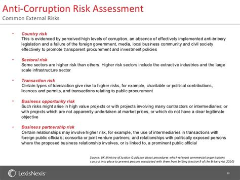 anti corruption policy template third risk due diligence feb 2012