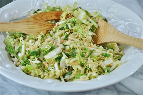 napa salad napa cabbage salad with toasted almonds veganosity