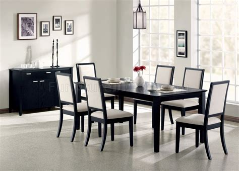 modern black dining room sets louise dining table 101561 in black by coaster w options