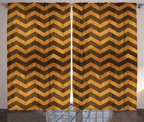 brown chevron curtains curtains zig zag chevron decor wooden effect brown 2