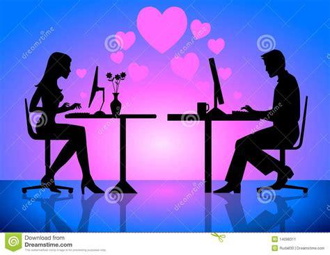 imagenes de amor virtual amor virtual ilustraci 243 n del vector ilustraci 243 n de largo