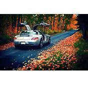 Hintergrundbilder Mercedes Benz SLS Luxus Herbst Autos