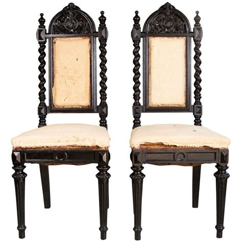 gothic dining room furniture pair of gothic style chairs at 1stdibs
