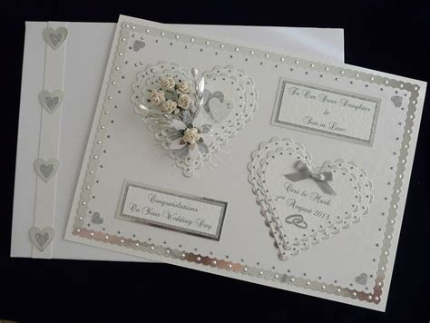 Wedding Handmade Cards - large wedding day card box etc