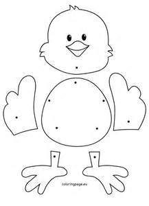 Easter Chick Crafts Preschool  Coloring Page sketch template
