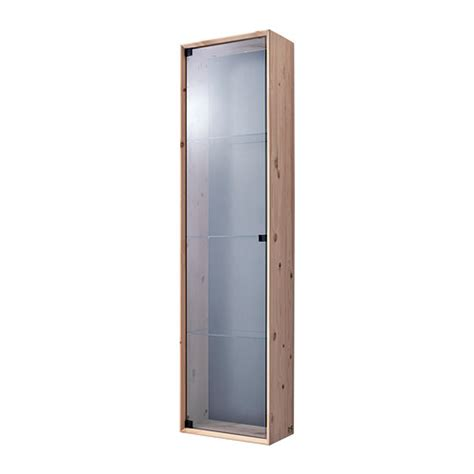 Norn 196 s glass door wall cabinet ikea untreated solid pine is a durable